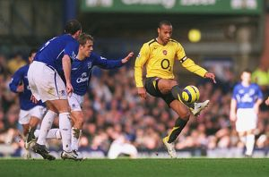Thierry Henry (Arsenal) David Weir (Everton)