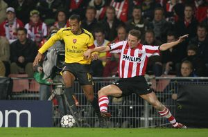 Thierry Henry (Arsenal) Jan Kromkamp (PSV)