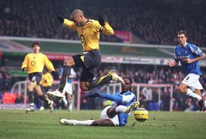 Thierry Henry (Arsenal) Mario Melchiot (Birmingham City)