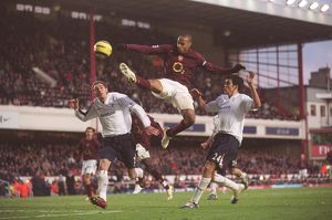 Thierry Henry (Arsenal) Nicky Hunt and Joey O'Brien (Bolton)