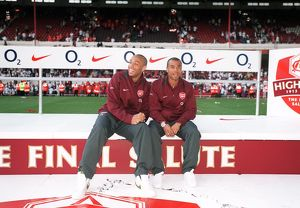 Thierry Henry and Ashley Cole (Arsenal) on the Final Salute stage