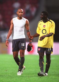 Thierry Henry and Kolo Toure (Arsenal). Ajax 0:1 Arsenal