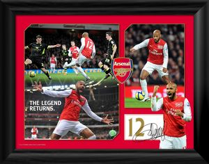 thierry henry the legend returns framed print