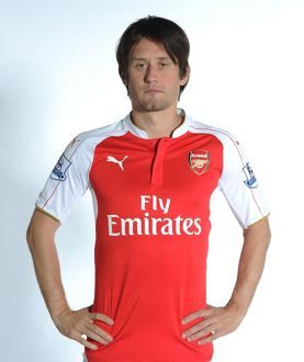 team/arsenal 1st team photocall 2015 16/tomas rosicky arsenal arsenal training ground