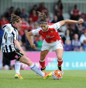 arsenal women/arsenal ladies v notts county wsl 10th july 2016/vicky losada arsenal ladies jade moore notts county