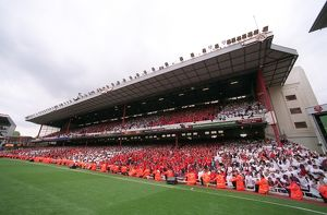 classic matches/arsenal v wigan 2005 06/west stand arsenal 42 wigan athletic