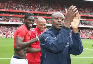 William Gallas, Emmanuel Adebayor and Thierry Henry (Arsenal)