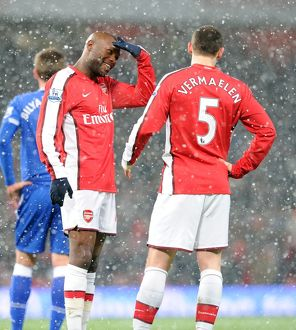 previous season matches/matches 2009 10 arsenal v everton 2009 10/william gallas thomas vermaelen arsenal arsenal 2