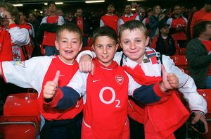 Young Arsenal fans before the game. Arsenal 1:0 Southampton. The F